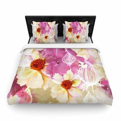 Liz Perez Sweet Florist Woven Duvet Cover Size: King