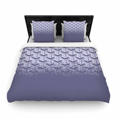 Just L No Yard Purp Vector Woven Duvet Cover Size: Full/Queen