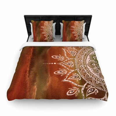Li Zamperini Autumn Mandala Woven Duvet Cover Size: Twin