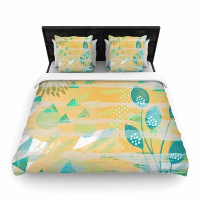 Li Zamperini Foliage Woven Duvet Cover Size: Twin