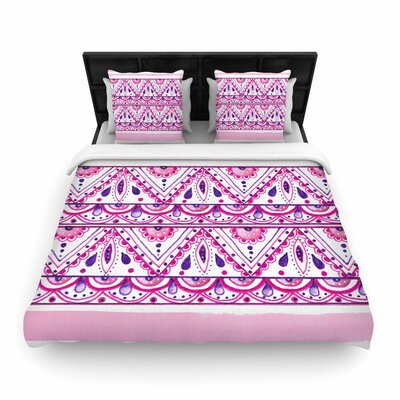 Li Zamperini Aztec Woven Duvet Cover Size: King