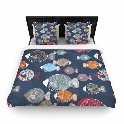 Melissa Armstrong Swim School Woven Duvet Cover Size: Full/Queen