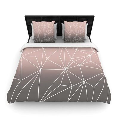 Mareike Boehmer Simplicity 2X Geometric Woven Duvet Cover Color: Brown, Size: Twin