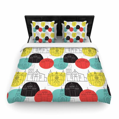 MaJoBV Cartagena Churches Polkadot Woven Duvet Cover