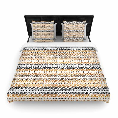 Li Zamperini Africa Tribal Woven Duvet Cover Size: Full/Queen