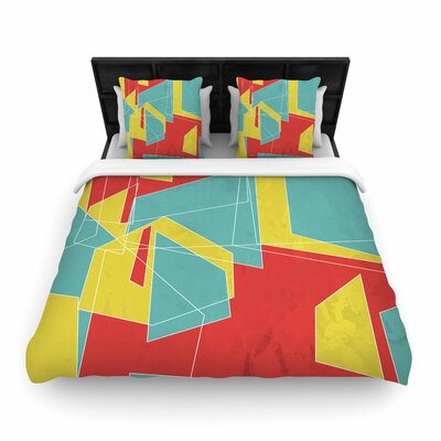 MaJoBV Cartagena Walls Geometric Woven Duvet Cover Size: Twin