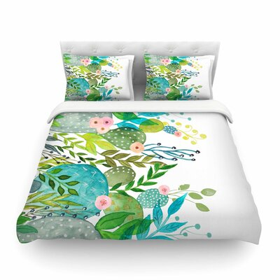 Li Zamperini Cute Foliage Featherweight Duvet Cover Size: Twin