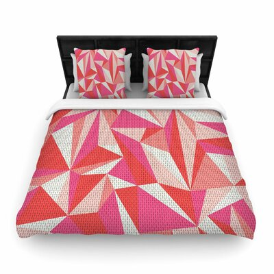 MaJoBV Stitched Pieces Woven Duvet Cover Size: King