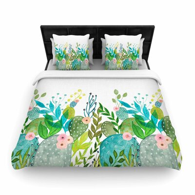 Li Zamperini Cute Foliage Woven Duvet Cover Size: Full/Queen