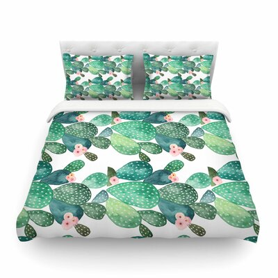 Li Zamperini Cactus Featherweight Duvet Cover Size: Twin