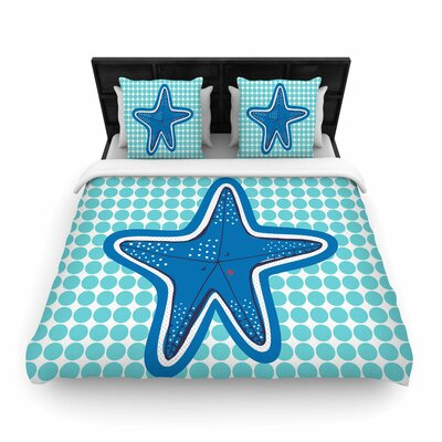 MaJoBV Estrella de Mar Starfish Woven Duvet Cover Size: Full/Queen