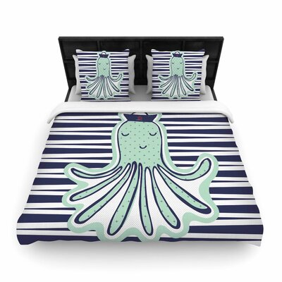 MaJoBV Pulpo Octopus Woven Duvet Cover Size: King