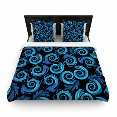 Maria Bazarova Waves Woven Duvet Cover Size: Twin