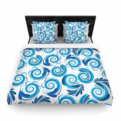 Maria Bazarova Waves Woven Duvet Cover Size: Full/Queen