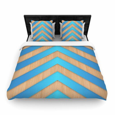 Marta Olga Klara Chevron Woven Duvet Cover Size: Full/Queen