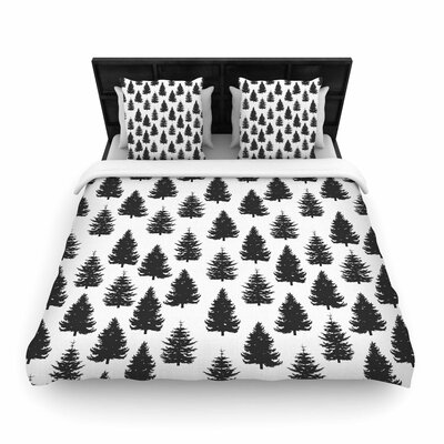 Marta Olga Klara Pine Forest Nature Woven Duvet Cover Size: King