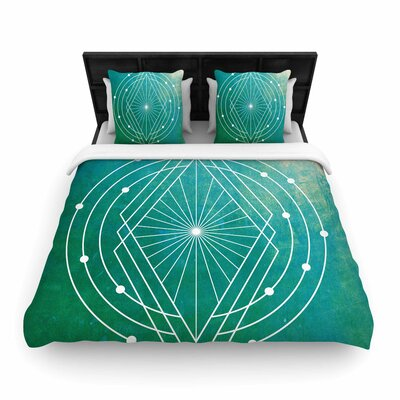 Matt Eklund Atlantis Geometric Woven Duvet Cover Size: Twin