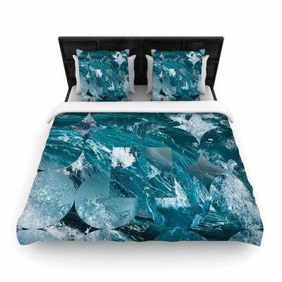 Matt Eklund Crashing Geometric Woven Duvet Cover Size: King