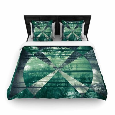 Matt Eklund Foliage Geometric Woven Duvet Cover Size: Full/Queen