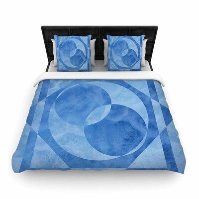 Matt Eklund Seafoam Geometric Woven Duvet Cover Size: Full/Queen
