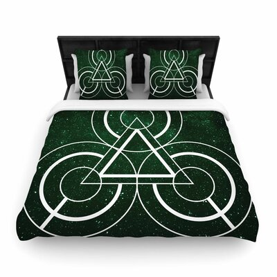 Matt Eklund Emerald City Geometric Digital Woven Duvet Cover Size: King