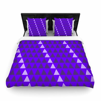 Matt Eklund Overload Woven Duvet Cover Color: Purple, Size: Full/Queen