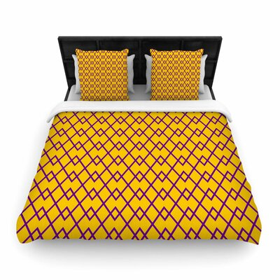 Matt Eklund St. Augustine Pride Abstract Woven Duvet Cover Size: King