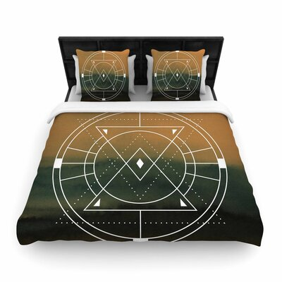 Matt Eklund Lost City Geometric Woven Duvet Cover Size: King