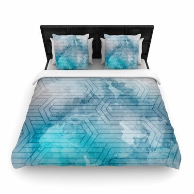 Matt Eklund Frost Labyrinth Woven Duvet Cover Size: King