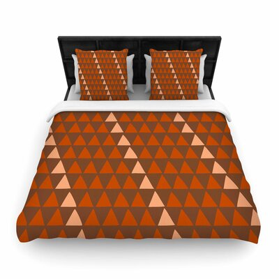 Matt Eklund Overload Woven Duvet Cover Color: Brown/Orange, Size: King