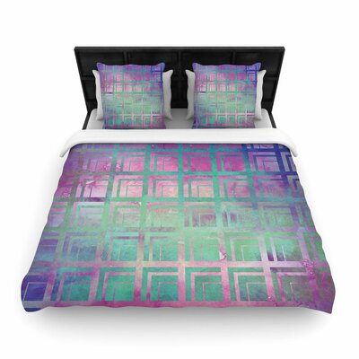 Matt Eklund Tiled Poison and Dreamscape Woven Duvet Cover Color: Poison, Size: Twin
