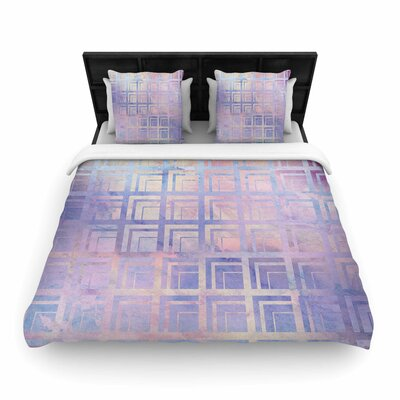 Matt Eklund Tiled Poison and Dreamscape Woven Duvet Cover Color: Dreamscape, Size: Twin