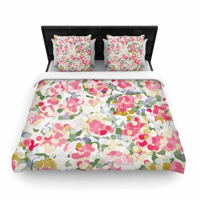 Matthias Hennig Soft Dots Floral Woven Duvet Cover Size: Full/Queen