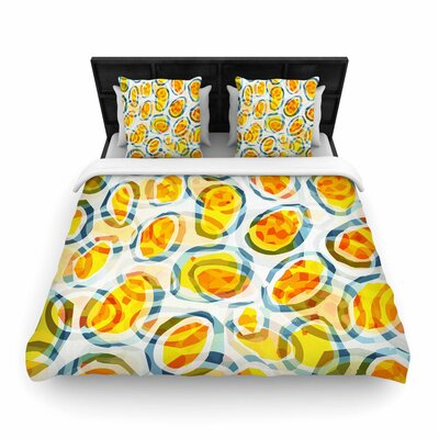 Matthias Hennig Sunny Places Pattern Woven Duvet Cover Size: Full/Queen
