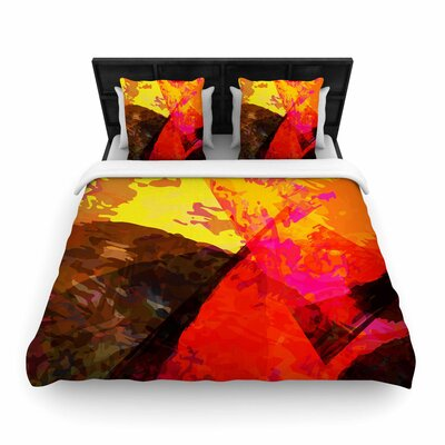 Matthias Hennig into the Fire Woven Duvet Cover Size: King