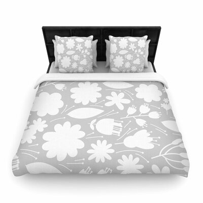 Petit Griffin Leaf Digital Woven Duvet Cover Size: Full/Queen