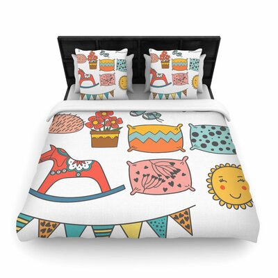 Petit Griffin Room Woven Duvet Cover Size: Twin