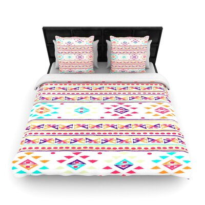 Nika Martinez Aylen Tribal Woven Duvet Cover Size: Full/Queen