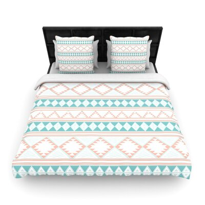Nika Martinez Yerbabuena Woven Duvet Cover Size: Full/Queen