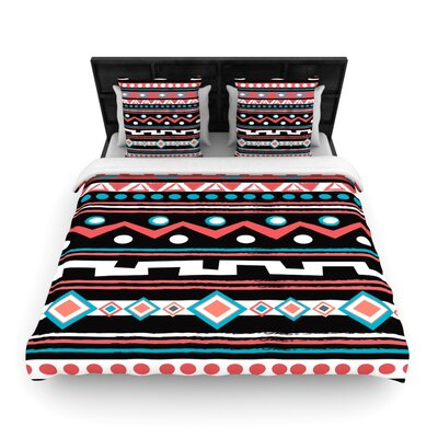 Nika Martinez Tipi Tribal Woven Duvet Cover Size: King