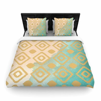 Nika Martinez Ikat Woven Duvet Cover Size: King