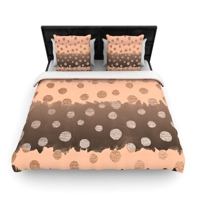 Nika Martinez Earth Dots Woven Duvet Cover Size: Twin