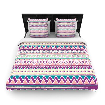 Nika Martinez Boho Ibiza Woven Duvet Cover Size: Full/Queen
