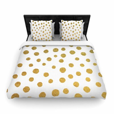 Nika Martinez Dots Woven Duvet Cover Color: Yellow