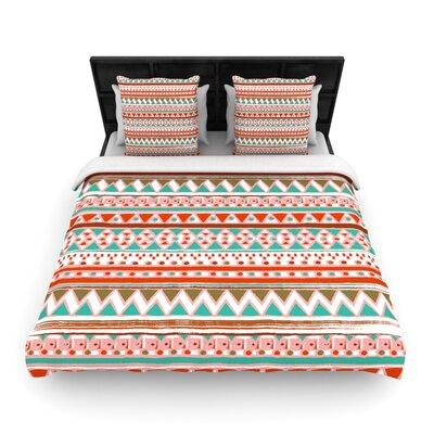 Nika Martinez Boho Mallorca Woven Duvet Cover Size: Full/Queen