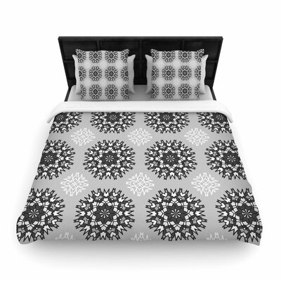 Nika Martinez Princess BW Vector Woven Duvet Cover Size: Full/Queen