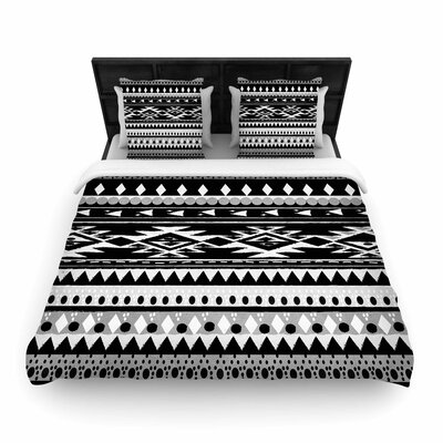Nika Martinez Hurit Woven Duvet Cover Size: King