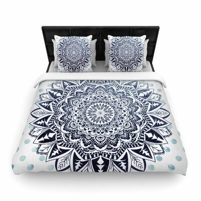 Nika Martinez Dots Mandala Illustration Woven Duvet Cover Size: Full/Queen