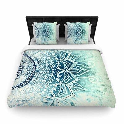 Nika Martinez Mina Mandala Geometric Woven Duvet Cover Size: Twin