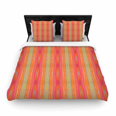 Nika Martinez Summer Tie Dye Woven Duvet Cover Size: King